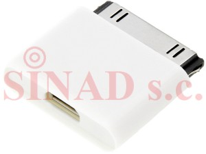 ADAPTER iPhone GNIAZDO MICRO USB - WT. iPhone 4